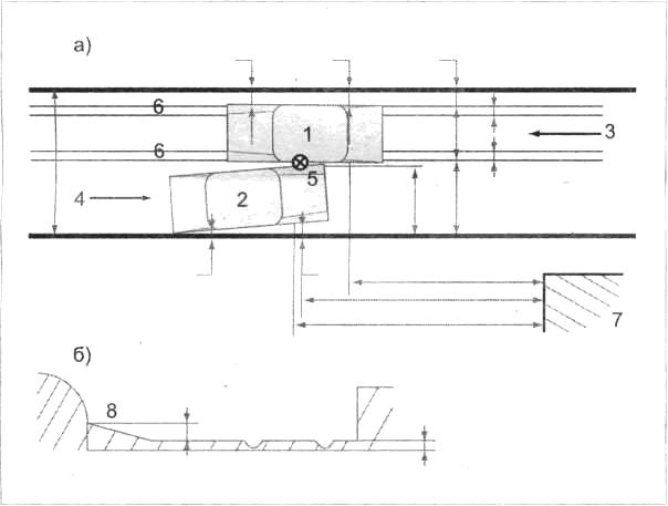 Схема столкновения ТС во внутриквартальном проезде